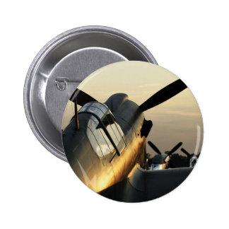 Curtiss P-40 AT Sunset 6 Cm Round Badge