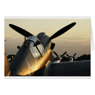 Curtiss P-40 AT Sunset Card
