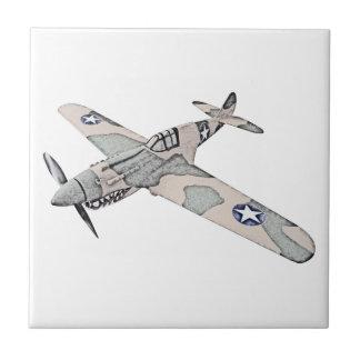 Curtiss P-40 Warhawk Aircraft Ceramic Tile
