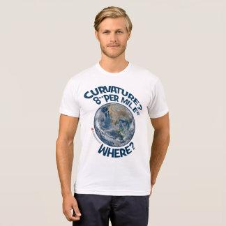 "CURVATURE? 8"" PER MILE² ~ WHERE? T-Shirt"