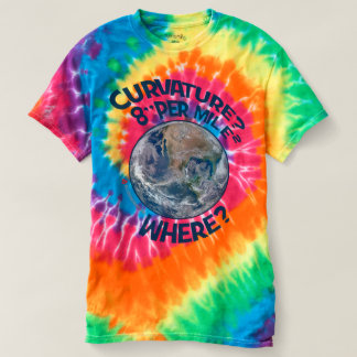"CURVATURE? 8"" PER MILE² ~ WHERE? T-Shirts"