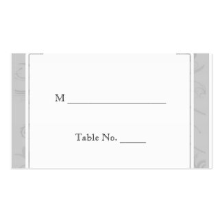 Curved Art Deco Diva Silver Wedding Place Cards Business Card Template