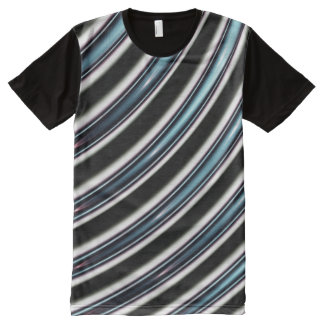 Curved Lines Close Up Of A Fractal All-Over Print T-Shirt