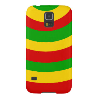 Curved Rasta Stripes. Galaxy S5 Case