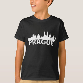 Curved Skyline Of Prague Czech Republic T-Shirt