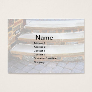 curved stone steps business card
