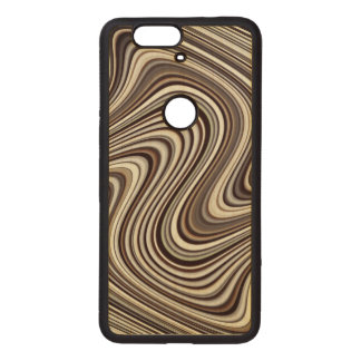 Curved Wood Nexus 6P Case