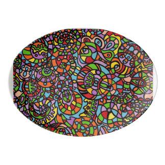 Curves and Spheres Porcelain Serving Platter