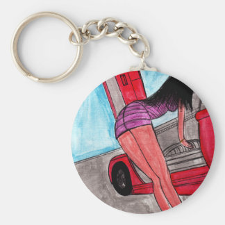 Curves Basic Round Button Key Ring