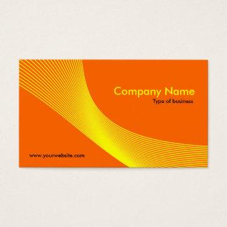 Curves - Yellow on Dark Orange FF6600
