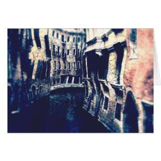Curving Canals of Venice Card