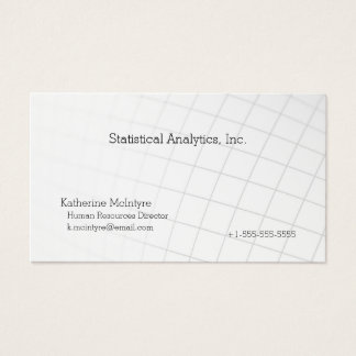 Curving graph business card
