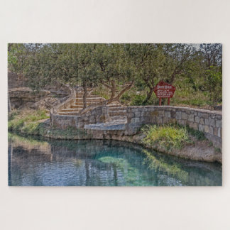 Curving Steps Leading to the Blue Hole - Route 66 Jigsaw Puzzle