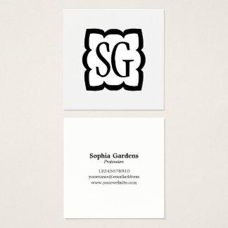 Curvy Box 03 - Initials Square Business Card