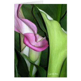 """Curvy Calla Lily"" Greeting Card"