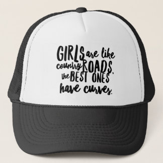 Curvy Girls n' Country Roads Trucker Hat