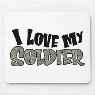 Curvy I Love My Soldier Mouse Pad