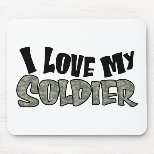 Curvy I Love My Soldier Mousepad