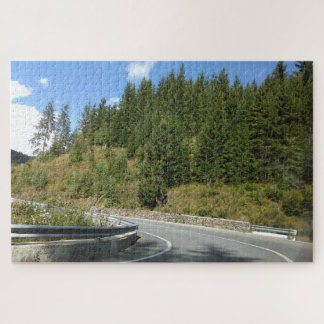 Curvy Road In The Forest Jigsaw Puzzle