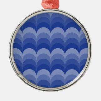 Curvy Waves Metal Ornament