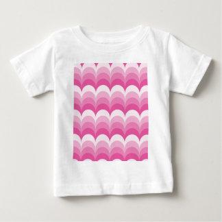 Curvy waves pink baby T-Shirt