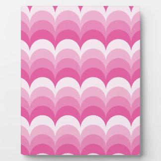Curvy waves pink display plaques