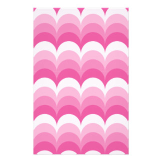 Curvy waves pink stationery