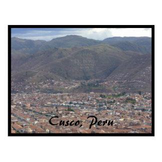 cusco city peru postcard