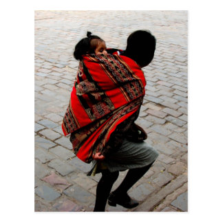 Cusco, Peru, mother and child Postcard