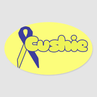 Cushings Diease Oval Sticker