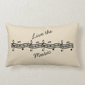 Cushion 33 x 53,34 cm - Designer Musical Notes