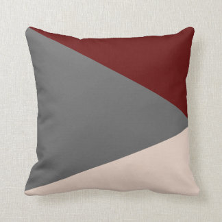 Cushion Abstracts Bordeaux/Gris/Beige
