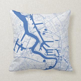 Cushion Antwerp urban Pattern BLUE