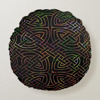 Cushion, Celtic knot, multicolored Round Cushion