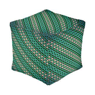 Cushion cubes Jimette Design green and white