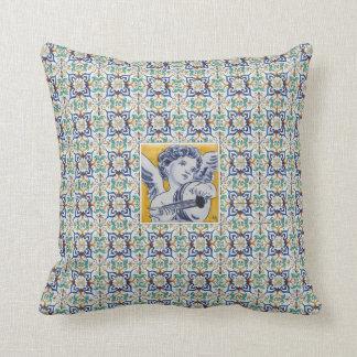 cushion déco cherub musician azulejos