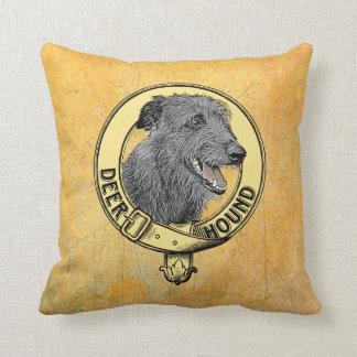 Cushion Deerhound collar Throw Pillow