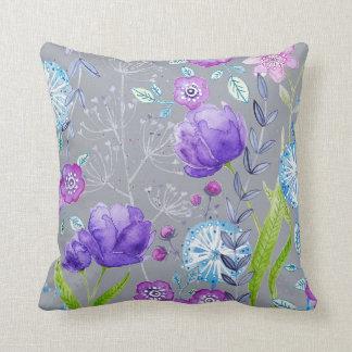 Cushion featuring my watercolour design 'Joy'