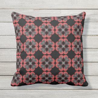 Cushion Jimette gray and black red Design