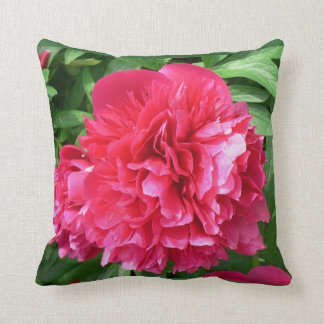 Cushion large red bloom throw pillows