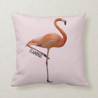 cushion pink flamingo on pink bottom powdered