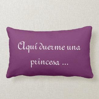 Cushion sleeps a princess here