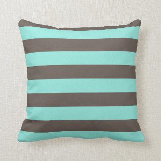 cushion striped blue gray