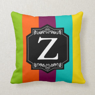 Cushion Stripes Backward Monogram with Initial