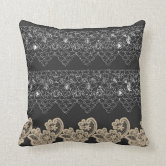 Cushion style geometric drawing gray cement