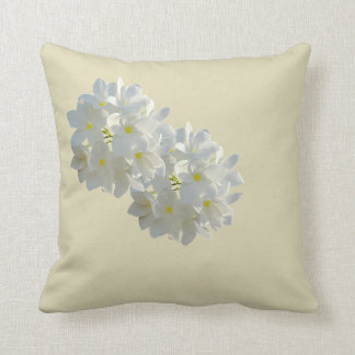 Cushion very natural small white flowers