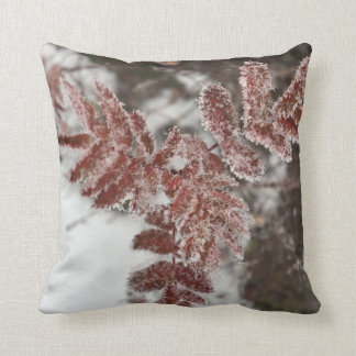 Cushion with glorious reasons on frosty blades