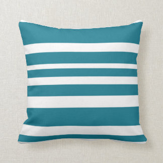 Cushion with Horizontal Stripss - Blue