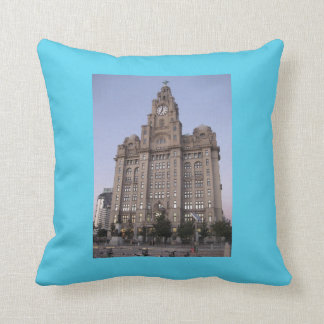 Cushion with Picture of Liverpool's Liver Building