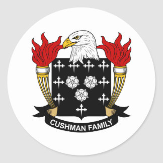 Cushman Family Crest Classic Round Sticker